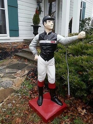 "Custom LAWN JOCKEY 44"" Statue (No shipping;Might Deliver) Pony Saratoga Concrete"