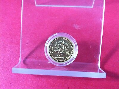 2001 1/10 OZ Gold Perth Mint Year of the Snake .9999 Fine