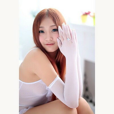 Seamless sheer long gloves Theater Dancer Costume pantyhose stockings NYLON
