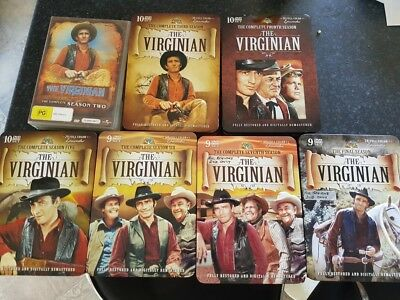 The Virginian, 7 boxed sets, 67 DVDs total, as new cond, viewed maximum once