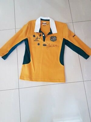 Wallabies Jersey - Signed by John Eales
