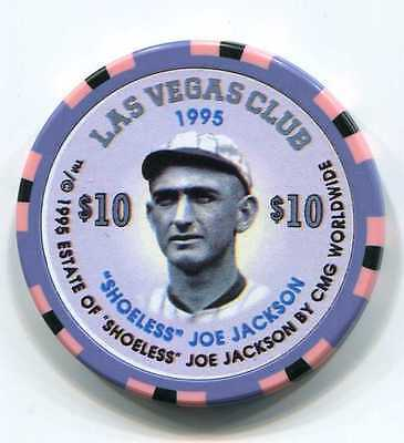 "Casino Chip $10 Las Vegas Club 1995 ""Shoeless"" Joe Jackson"