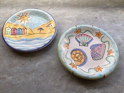 Decorative Plates x2 - Beach Coastal Nautical Decor