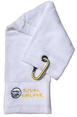 Rival Golfer Golf Towel - YELLOW design