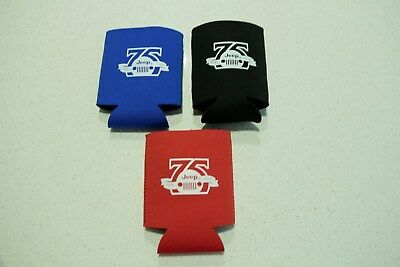 Jeep 75th Anniversary Stubby Coolers - Brand New