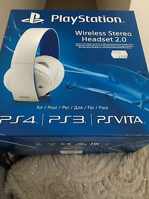Playstation Wireless Stereo Headset 2.0, New Unopened (PS4, PS3, PSVita)