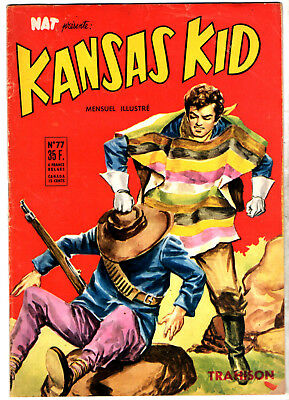 NAT PRESENTE : KANSAS KID n°77 ¤ 1957 ¤ PERIODIQUES EDITIONS ILLUSTREES