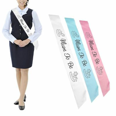 Personalised Mummy To Be Baby Boy Girl Shower Sash Party Sashes Newborn Ribbon