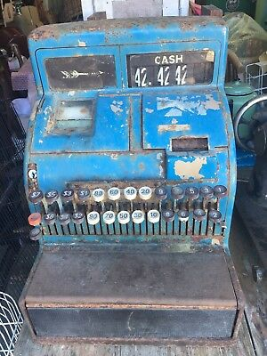 Vintage Rustic Antique Shabby NCR National Cash Register Display Man Cave Prop