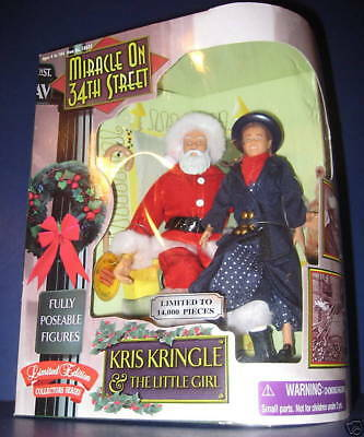 MIRACLE ON 34TH STREET ~ SANTA Kris Kringle & Little Girl DOLL FIGURES mib 1998