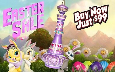 I DREAM OF JEANNIE/ GENIE BOTTLE SHIMMERING PURPLE *EASTER SALE* Only $99!!!
