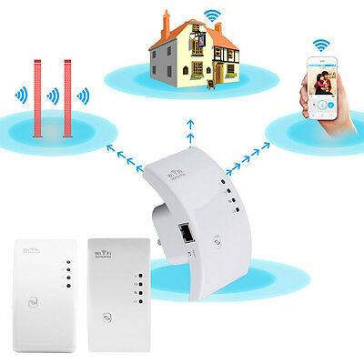 300Mbps Signal Extender Booster Wireless N AP Range 802.11 Wifi Repeater AU/US^