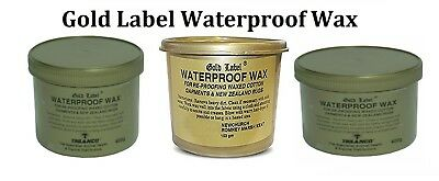 Gold Label Waterproof Wax 200gm 400gm Cotton Wax Garments Re Proofing Horse Care