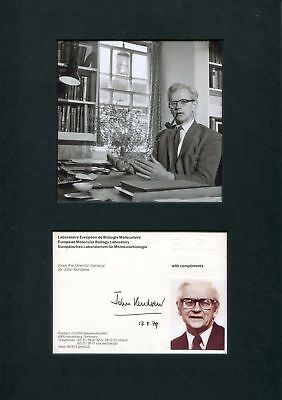 John Kendrew NOBEL PRIZE 1962 autograph, signed card mounted