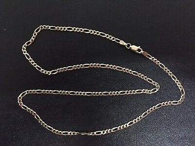 GOLD CHAIN NECKLACE 9ct gold 9k 375 approx 6 grams 50cm long yellow gold Figaro