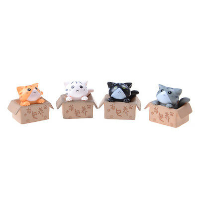 Cute Nurturing Cheese Cat Cartoon Anime Action Figure Resin Toy Christmas Gift ^