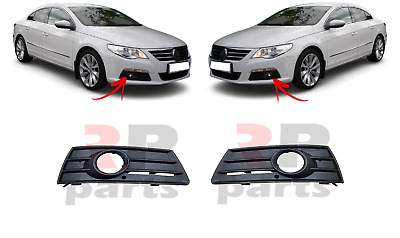 New Vw Passat Cc Front Bumper Grille With Fog Lights Hole Left+Right 2009-2011