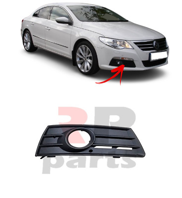 New Vw Passat Cc Front Bumper Grille With Fog Lights Hole Right O/s  2009-2011