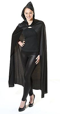 Adults Cape: Long Black Hooded