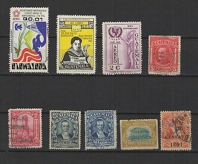 Guatemala années 1900/70 9 timbres anciens/T2324