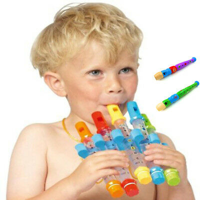 Children Colorful Early Education Water Flute Learning Toy Music Instrument