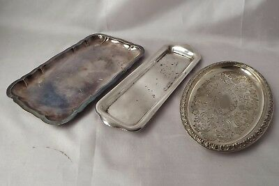 silver plated card trays