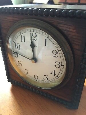 Beautiful Old Vintage 8 Days French Make Clock Wooden