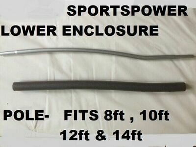 Sportspower trampoline part 8,10ft 12ft enclosure lower pole frame tube NO FOAM