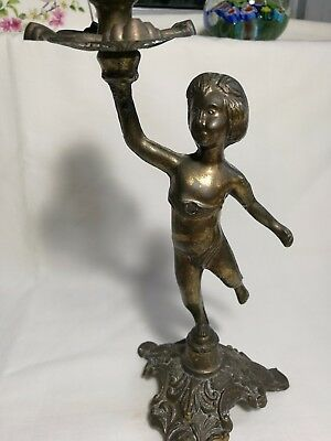Collectable Vintage brass figure candlestick