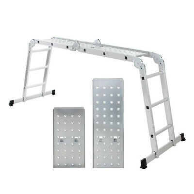 Multi Position Locking Joints Collapsable Aluminum Step Ladder, Platform, Stand