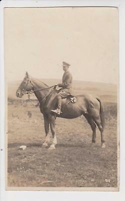 Rp Unidentified Mounted Soldier Officer At Okehampton   Dated 1925