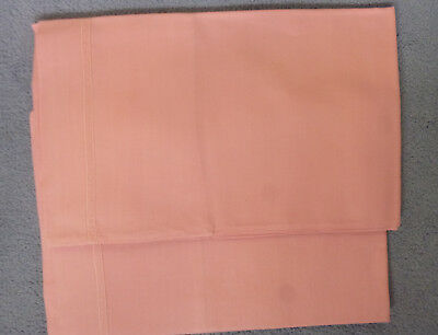 Pair Of Vintage Pink Cotton Pillow Cases