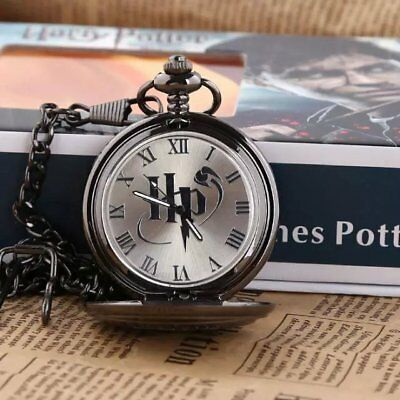 NEW Harry Potter Pocket Watch Vintage Necklace Watch in box Gift cosplay