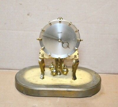 Vintage Kundo Oval 400 Day Anniversary Clock for Restoration or Parts