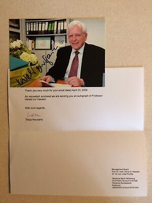 Professor Harald Zur Hausen Autographed Signed Photo Nobel Prize Winner Genuis