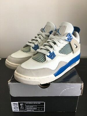 Nike Air Jordan Retro 4 Military Blue Size 6.5Y 2006 Cement Bred 11 3 5 6 7 8 9