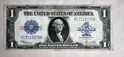 1923 $1 -One Dollar U.s. Silver Certificate Dollar Note - Large