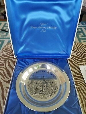 Franklin Mint Sterling Silver Georgia Tech Limited Edition Plate
