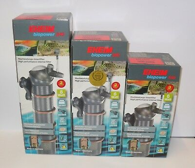 EHEIM BIOPOWER INTERNAL AQUARIUM FILTER SIZES 160, 200, 240 MARINE or FRESHWATER