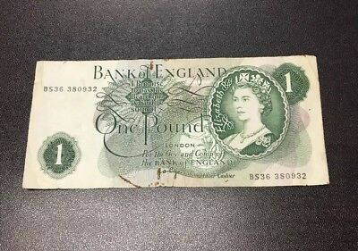 Great Britain (UK) – Bank Of England – 1 Pound Bank Note
