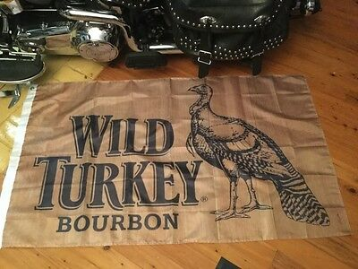 Bar wall hanging wild turkey 5x3 ft flag man cave art  bar art pool room sign