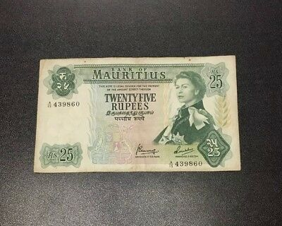 1967 Mauritius - 25 Rupees Banknote