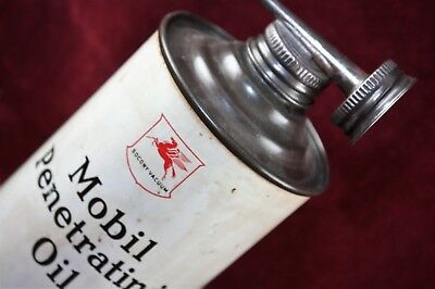 ** Antique Socony Vacuum Mobil Service Station Penetrating Oil Can Original **