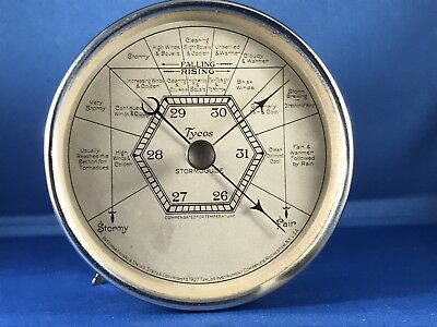 Vintage 1927 Tycos Stormoguide Aneroid Barometer by Taylor Instrument 5.25 Inch
