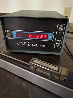 Acu-Rite Quick Count II Digital Readout Display 1 Axis DRO with Linear Scale