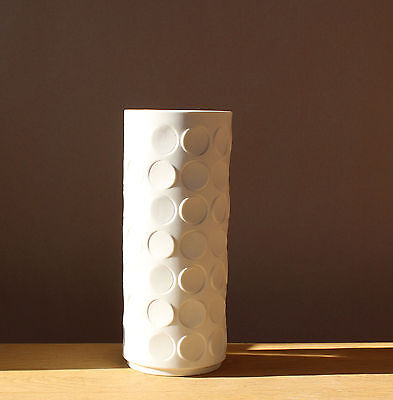 Winterling Op Art  Vase 60er 70er Bisque porcelain 23,5cm