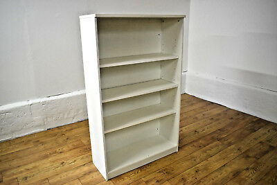 White Adjustable Office Bookcase by Buronomic 1600mm Last Remaining R1151