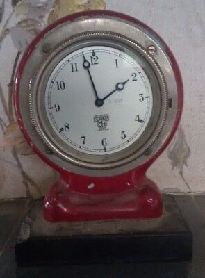 Smiths Enfield Antique Mantle Clock Working with Wooden painted Case