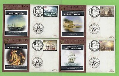 Liberia 2008 Life and Times of Horatio Nelson, four covers