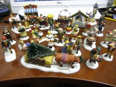 Lot of 27 Department 56 Alpine Village People and Accessories